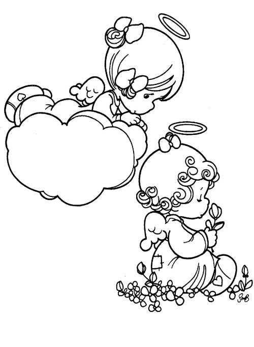 Precious Moments Christian Coloring Pages - Coloring Home | 682x500