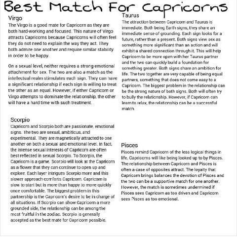 Best Love Match For Capricorn Man