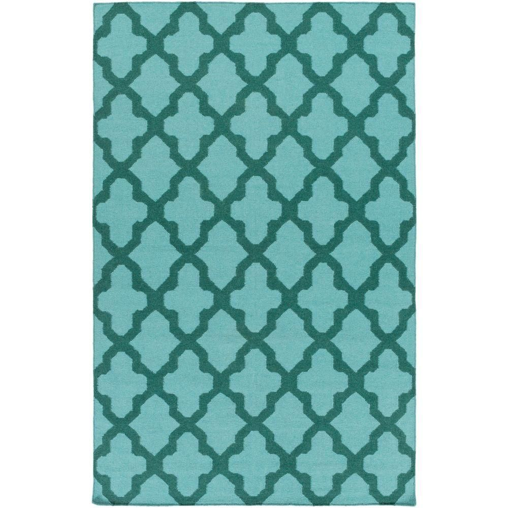 York Olivia Turquoise 2 ft. x 3 ft. Indoor Accent Rug