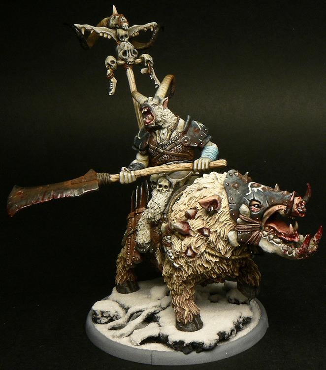 Mierce Miniatures - Chaagmuth the Jaw Taker, Gabrax Untain on Toracx
