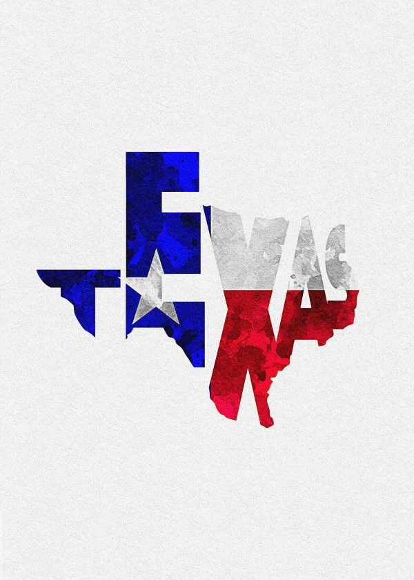 Typographic Us State Flags Texas Displate Artwork By Artist Deniz A Part Of A 50 Piece Set Featuring Typographic F Texas Artwork Texas Art Us States Flags