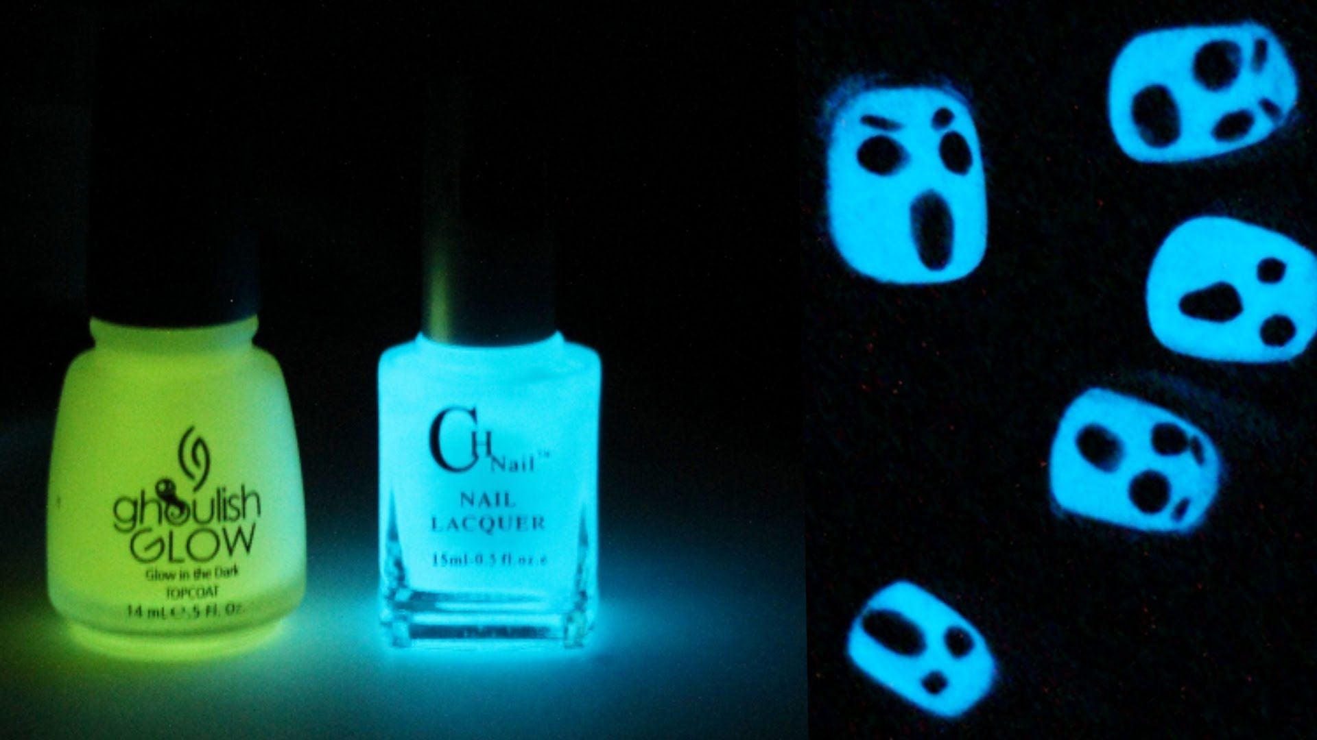 Glow In The Dark Halloween Nail Art Totallycoolnails Glow Nails Halloween Nails Dark Nails