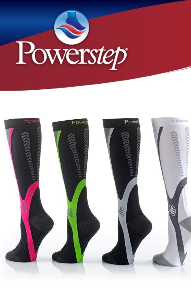 PowerStep PowerSocks avail in our Sports Med Shop http://www.collegiatesportsmedicine.ca