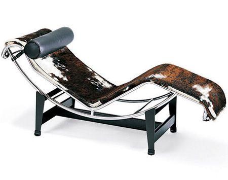 chaise longue lc4, charlotte perriand, pierre jeanneret, le ... - Chaise Longue Le Corbusier Vache