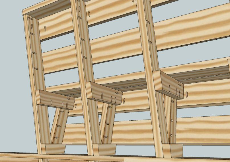 Wood Deck Bench Plans How To Build Diy Woodworking Blueprints
