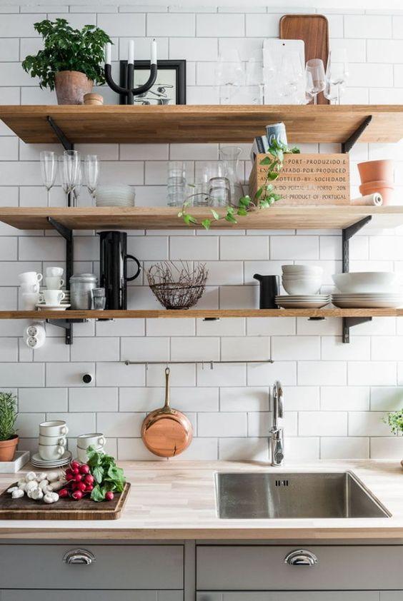Cucina: più bella ed organizzata con le mensole (per ogni stile ...