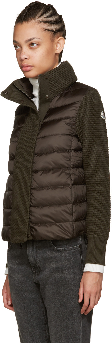 Moncler Brown Quilted Down Jacket (With images) Womens