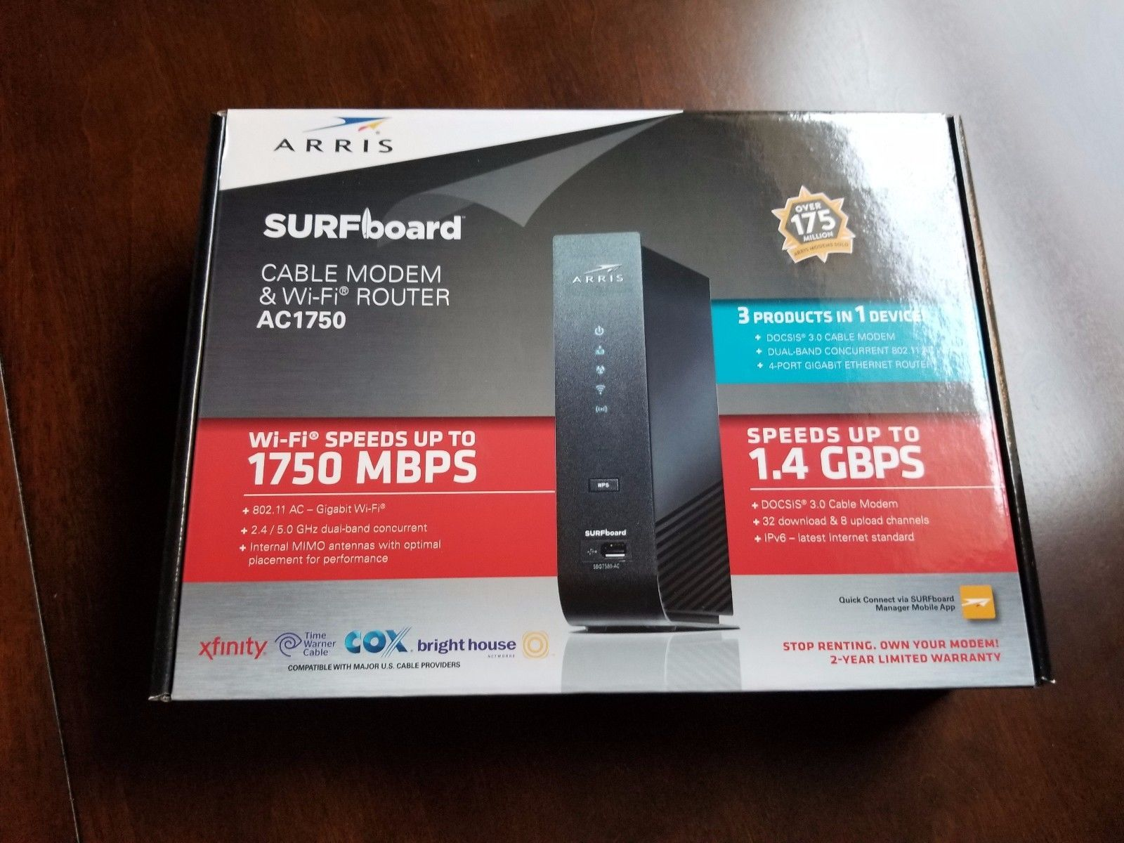 NEW ARRIS SURFboard SBG7580AC DOCSIS 3 0 Cable Modem / Wi-Fi
