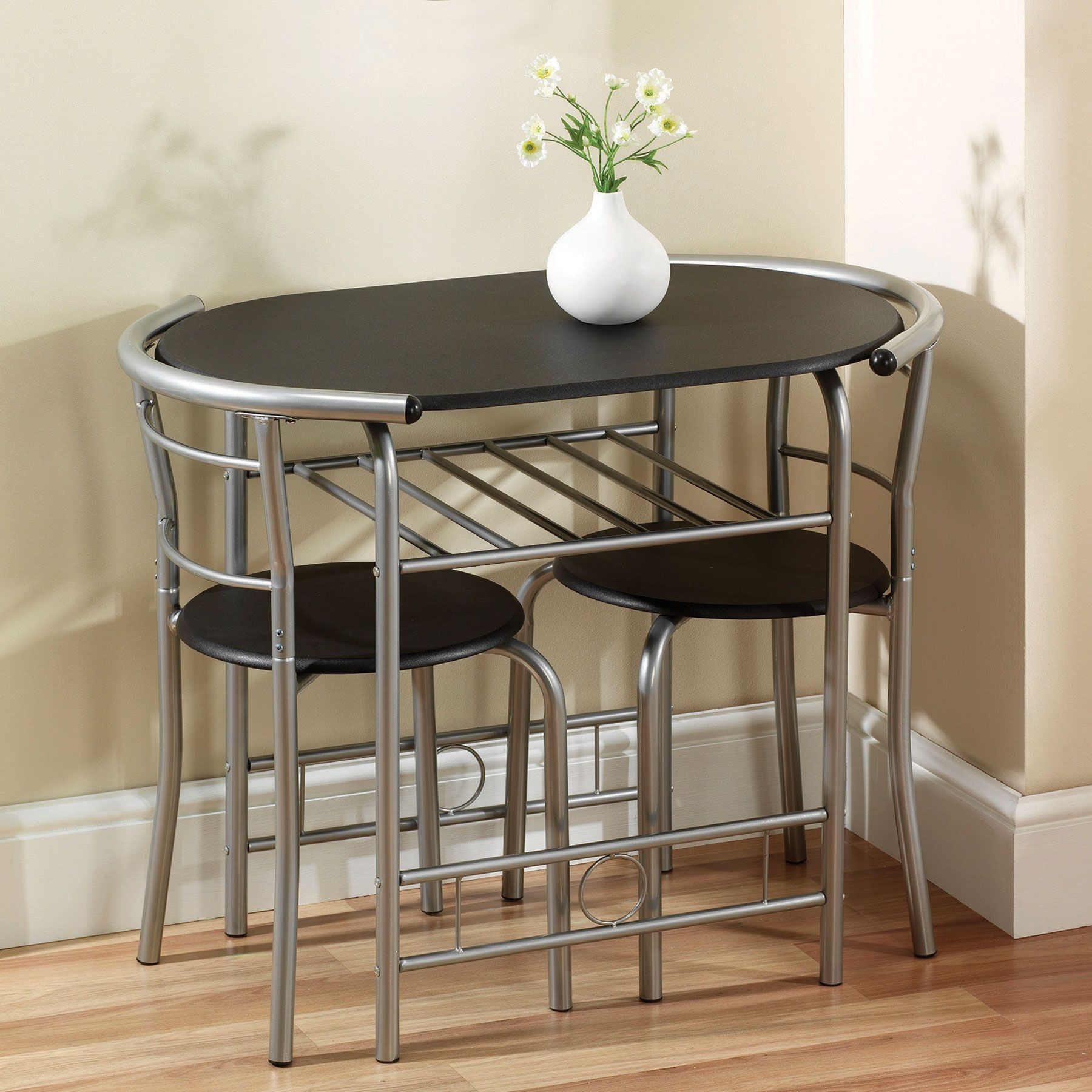 Remarakbale stainless steel space saving dining table and chairs set
