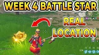 search between a gas station soccer pitch and stunt mountain battle star week 4 season 5 fortnite - fortnite stunt mountain