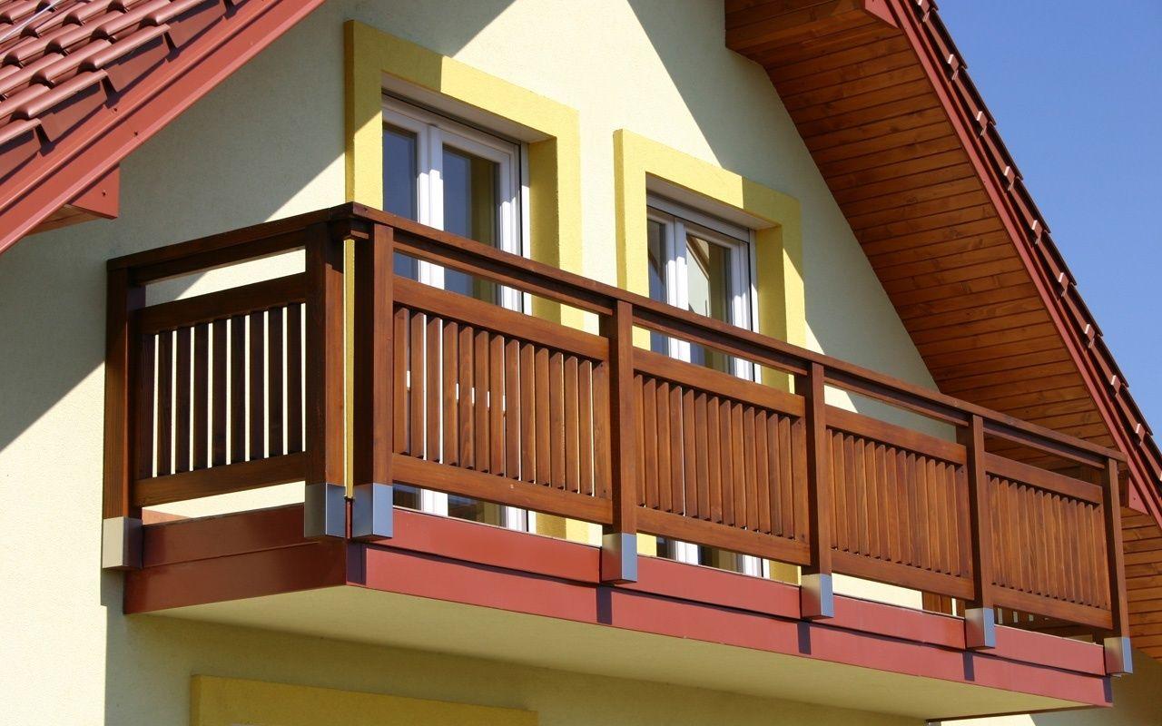 Balustrady Drewniane Balkon System Balcony W 2019 Drewno