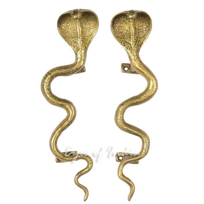 Pair of Brass Snake Cobra Animal Door Handles Handmade Cabinet Pulls - 12   sc 1 st  Pinterest & Pair of Brass Snake Cobra Animal Door Handles Handmade Cabinet Pulls ...