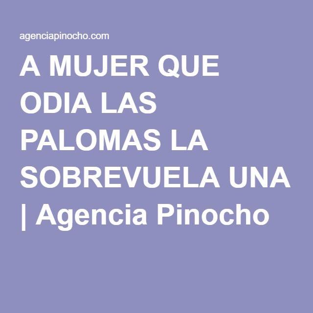 A MUJER QUE ODIA LAS PALOMAS LA SOBREVUELA UNA | Agencia Pinocho