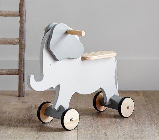 Wooden Elephant Ride-On | Wood toys