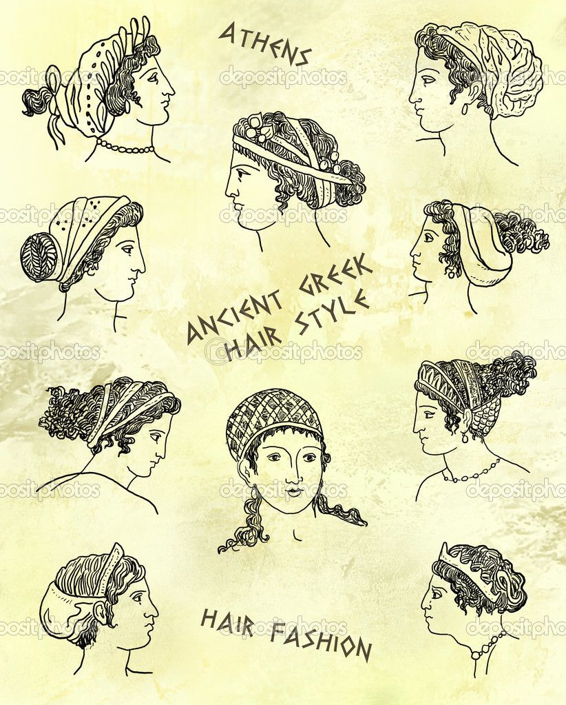 Athenian Hairstyles Ancient Greek Clothing Greek Hair Ancient Greek Theatre
