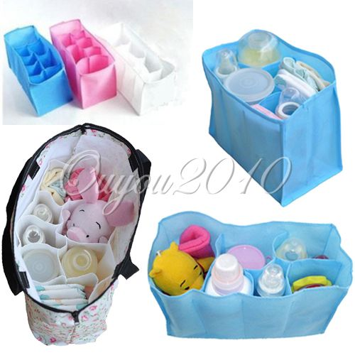 Portable Baby Diaper Nappy Baby Water Bottle Changing Divider Inner Storage Bags