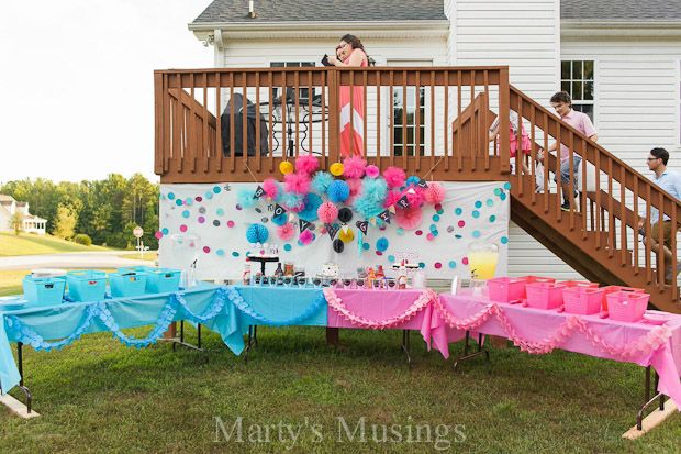 How To Host A Baby Gender Reveal Party Free Printables Gender Reveal Party Decorations Gender Reveal Decorations Gender Reveal Party
