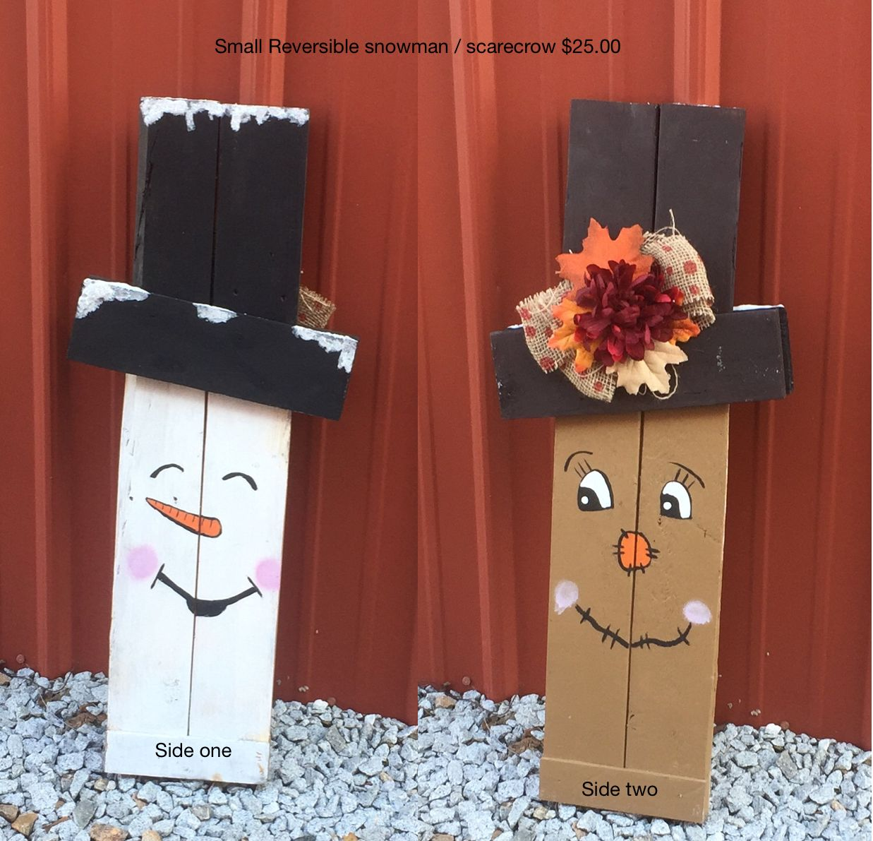 Small Snowman Scarecrow 25 00 With Images