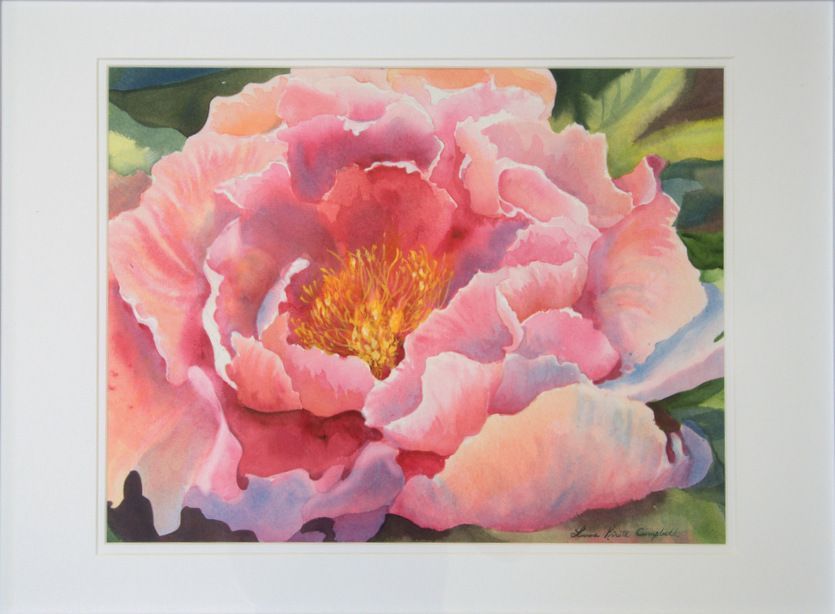 Blossoming Friendships Peony Painting Flower Painting Flower Art