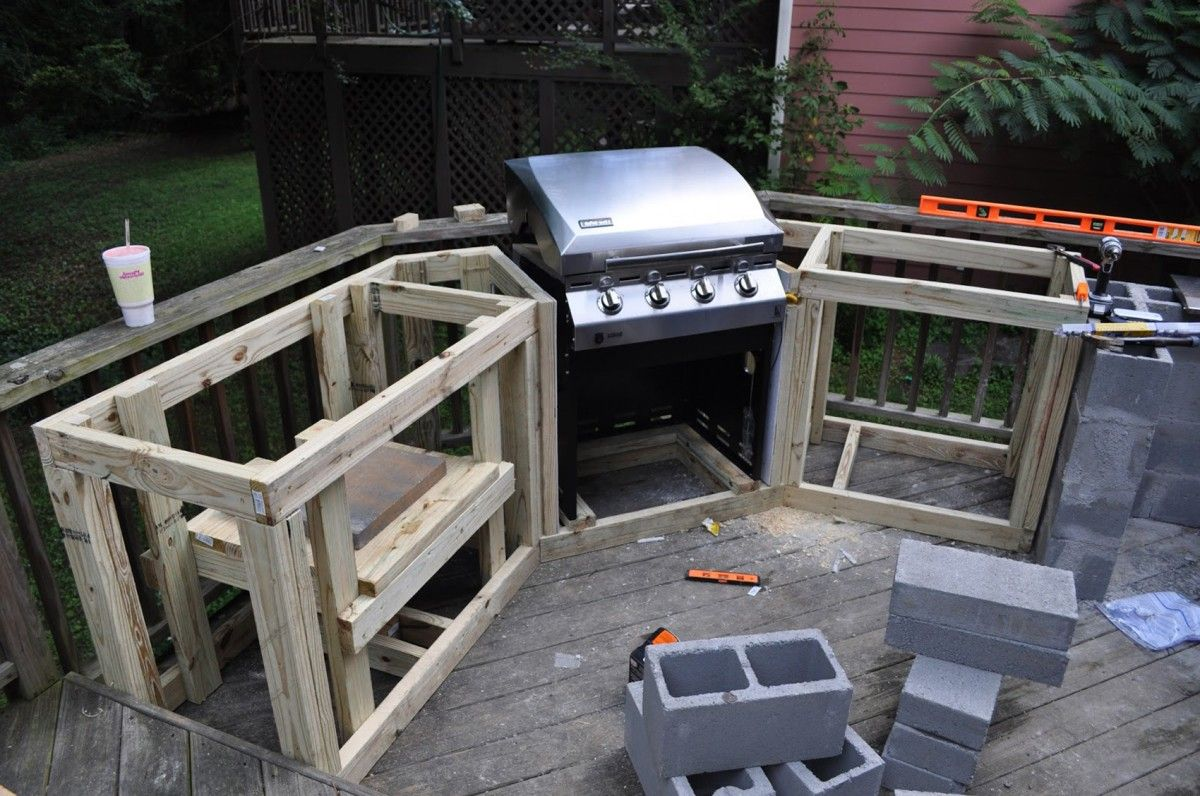 Diy Outdoor Kitchen Cabinets
