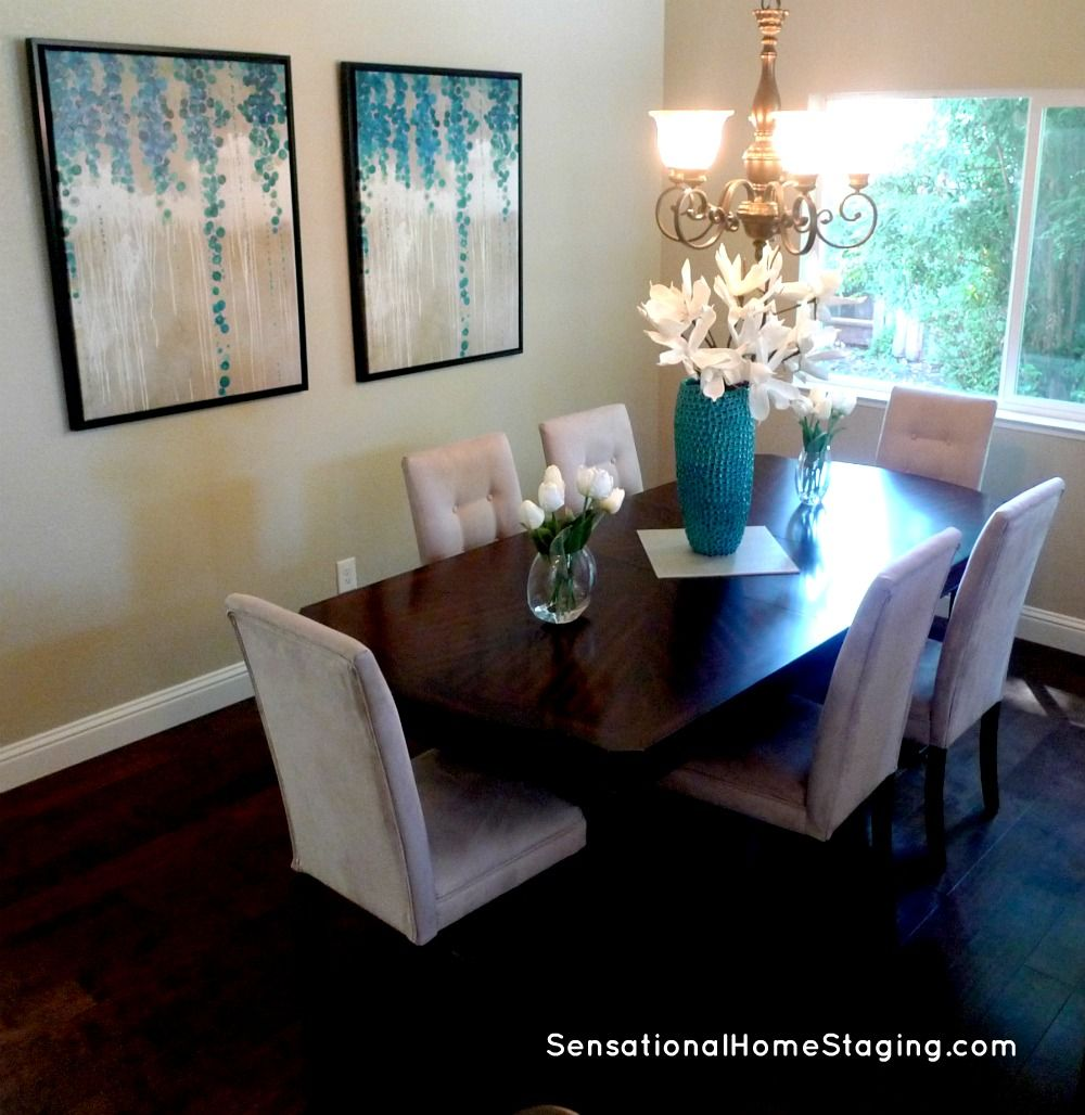 Formal Dining In Teal Homestaging Staging Diningrooms Realestate Teal Home Staging Home Home Decor