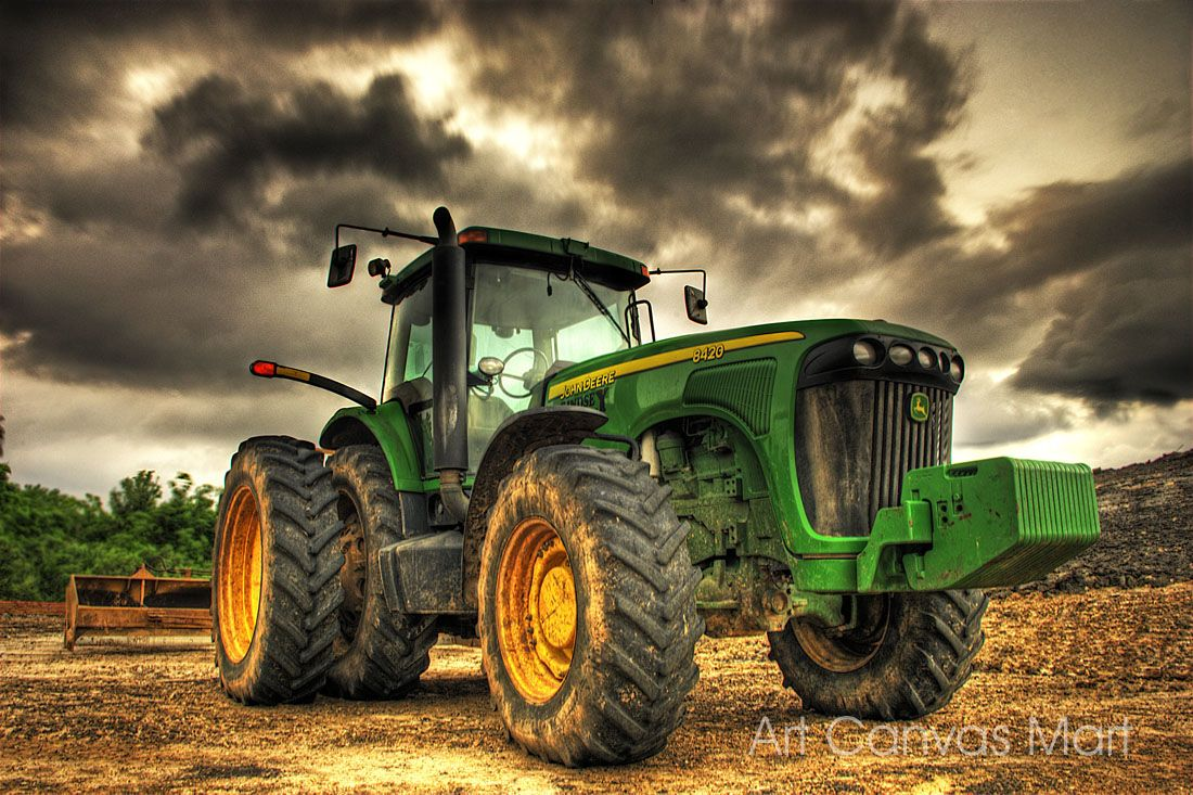 Girly John Deere Paintings : John deere logo clip art canvas or print wall