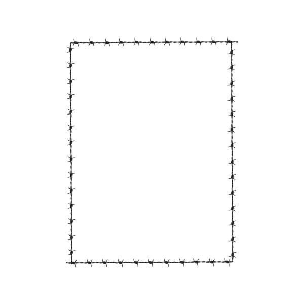 Decorative Page Borders and Frames - barbed wire page - Public Domain... ❤ liked on Polyvore featuring frames, borders, backgrounds, frames4 and picture frame