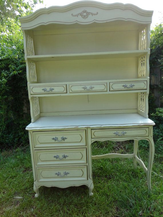 Vintage French Provincial Desk And Hutch Cream By Designingedgedw 495 00 Scored A Just Like