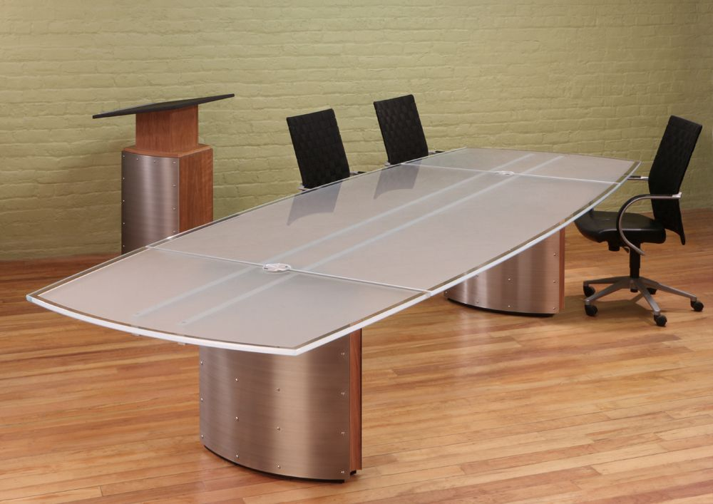 White Glass Boardroom Table Conference Table Table