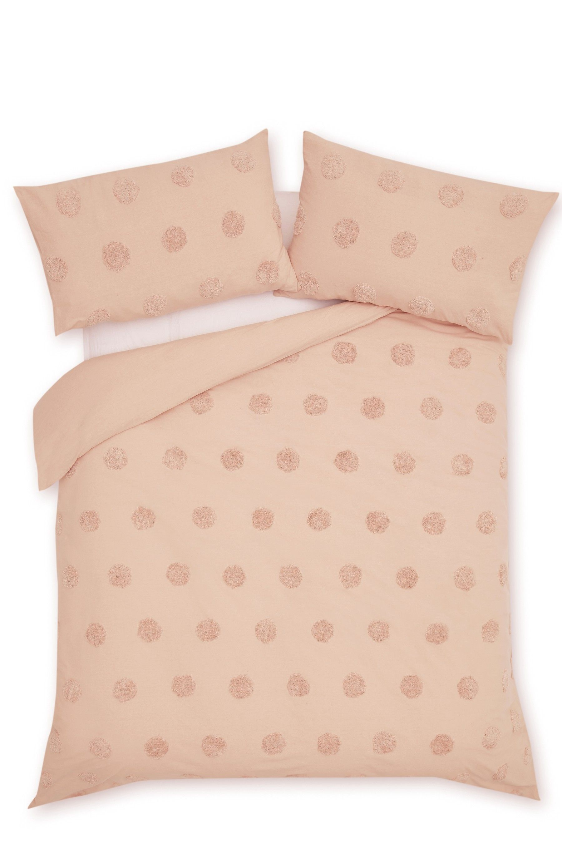 Buy Tufted Spot Duvet Cover and Pillowcase Set from the
