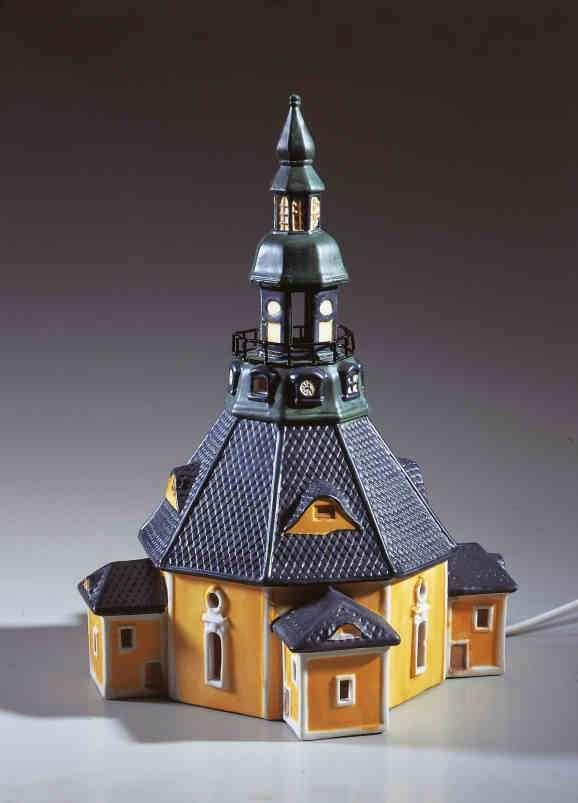 Keramik Lichthaus Seiffener Kirche Prachtiges Oktagon Aus Dem