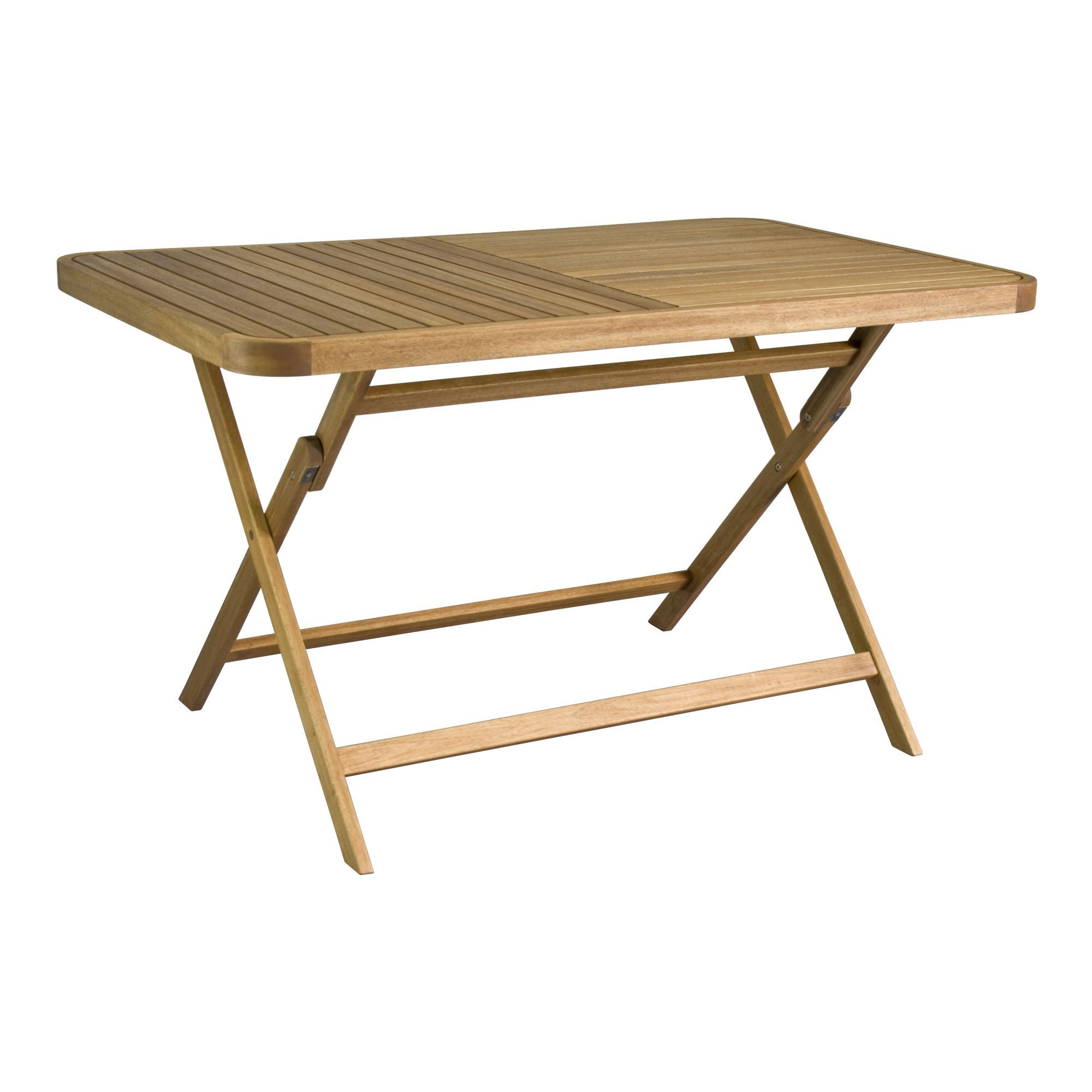 Youk Table de jardin pliante en acacia huilé (2 à 4 places)