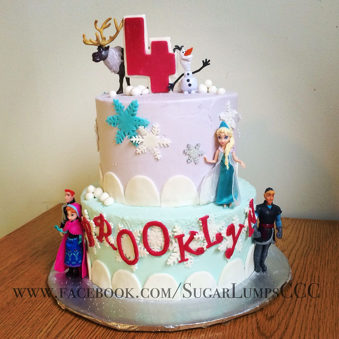 Cool More Frozen Fever Happy Birthday Brooklyn With Images Cake Personalised Birthday Cards Veneteletsinfo