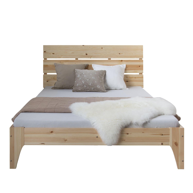 Doppelbett Holzbett Bettgestell Futonbett 140x200 Natur Kiefer Bett Massivholz In 2020 Holzliege Bettgestell Bett Ideen