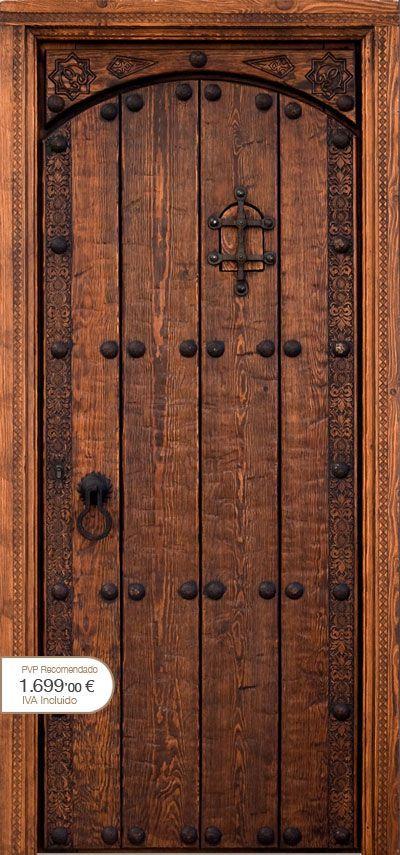 Resultado de imagen de puertas de madera rusticas portas for Puertas para casas rusticas