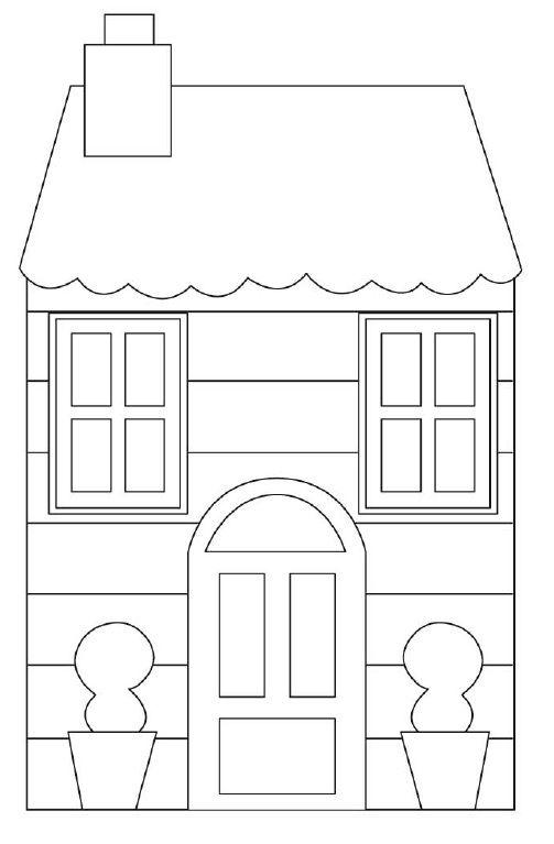 House printable | КНИГИ | Pinterest | Haus, Vorlagen und Applikationen