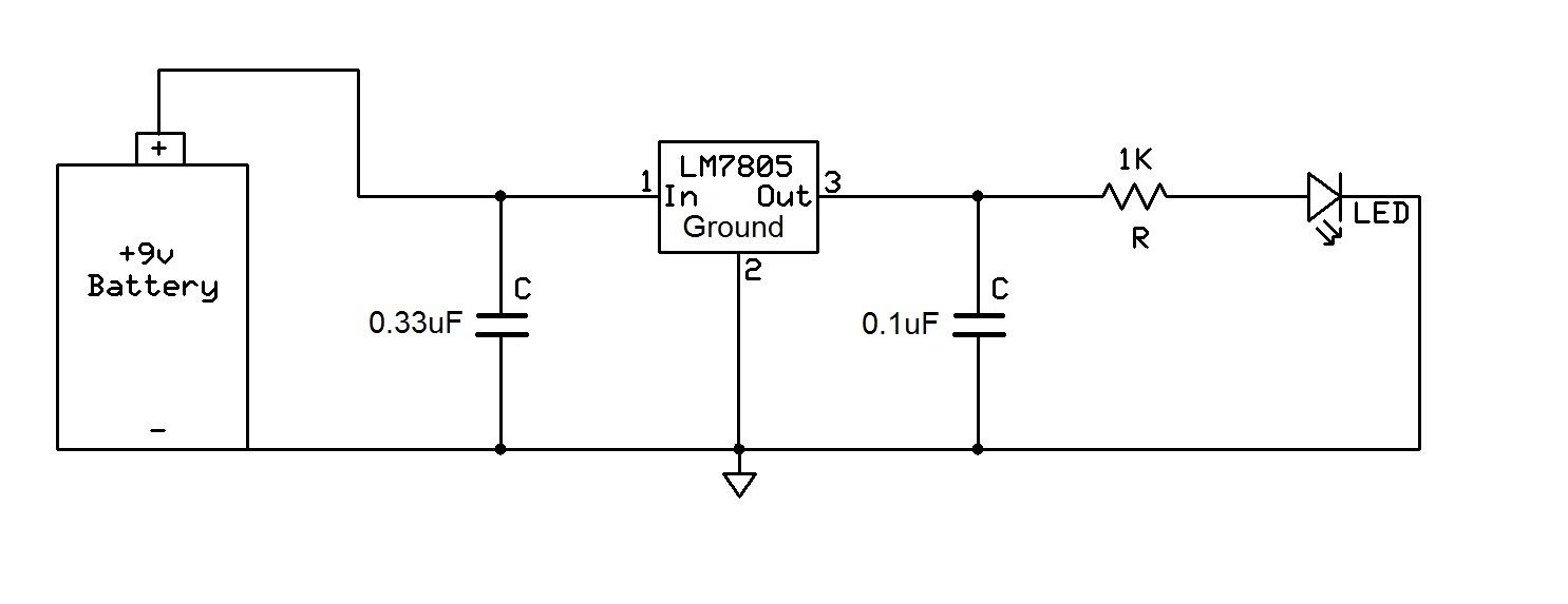 Lm7805 Voltage Regulator Circuit
