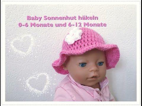 EINFACHEN Baby Sonnenhut häkeln 0-6 Monate und 6-12 Monate ...