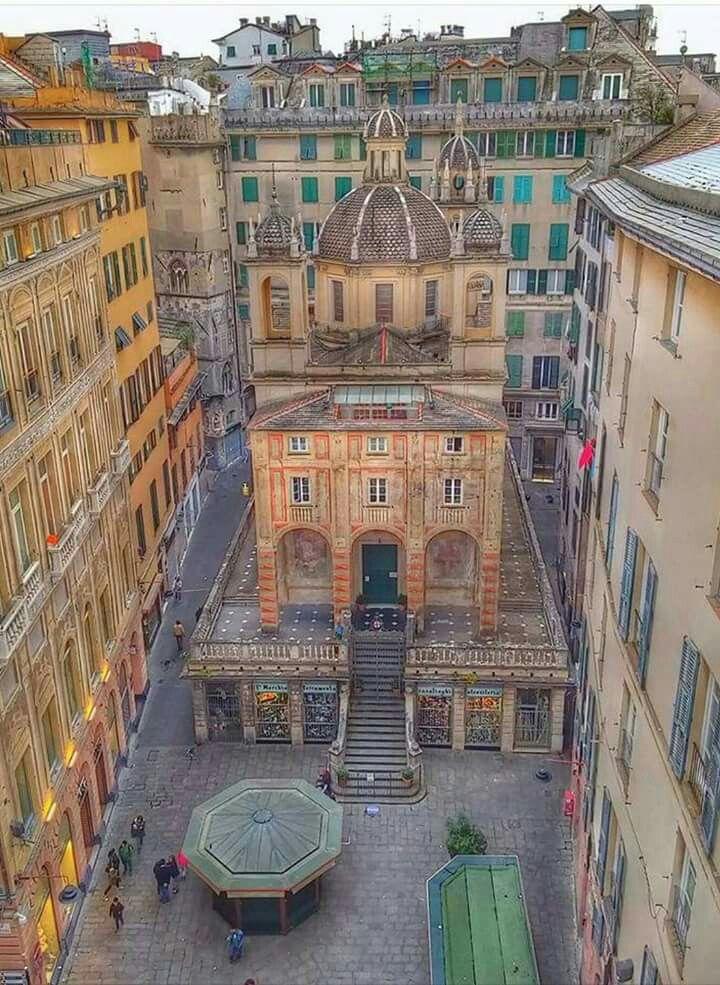 Incredible Beauty. Genova Italy Piazza Banchi