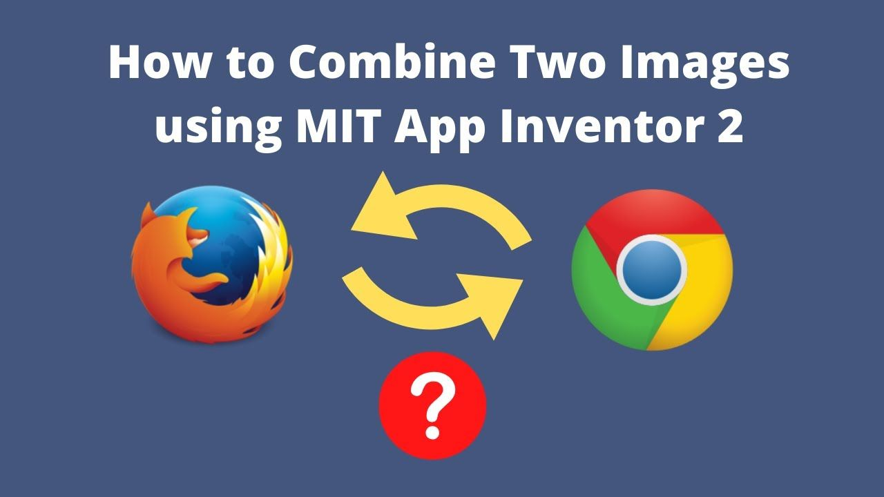 How to combine two images using mit app inventor app