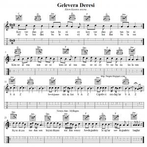 Gelevera Deresi Koyverdun Gittun Notalari Tablari Notalara Dokulmus Muzik Flut Muzik Notalari
