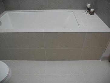 Tile Tub Deck With Under Mount Hall Bathroom Tub Contemporary
