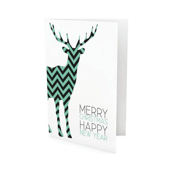 Set of 6 christmas cards di paulinekcreation su Etsy