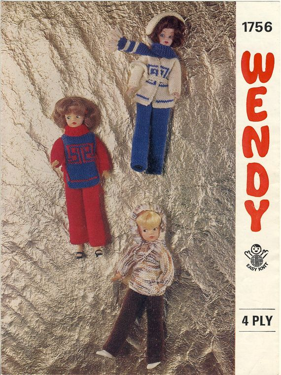 Sindy Knitting Pattern Wendy 1756 Teenage Doll Clothes By