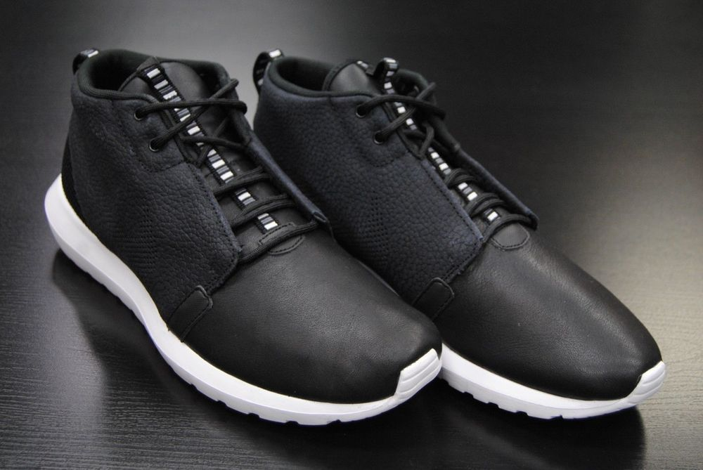 d79271dc72fb Men s Nike Roshe Run NM Sneakerboot Black White Dark Grey 684723-003 ...
