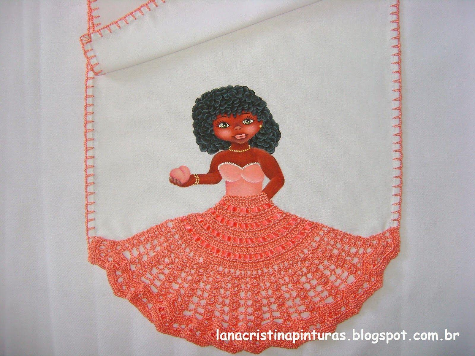 Boneca com Saia de Crochê   bonecas com vestido de croche   Pinterest