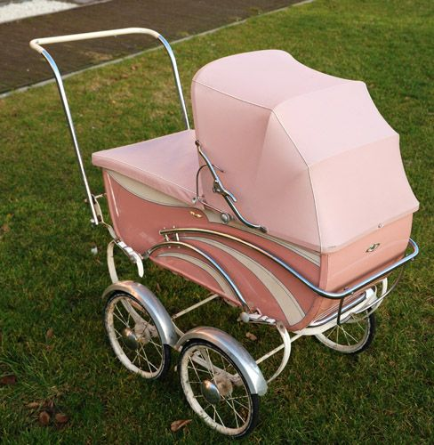 Pink Fifties Pram French Model 아기용품 유모차 인형