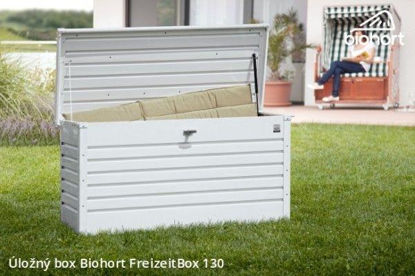 Ulozny Box Freizeitbox 130 Bila Patio Storage White Storage Box White Storage