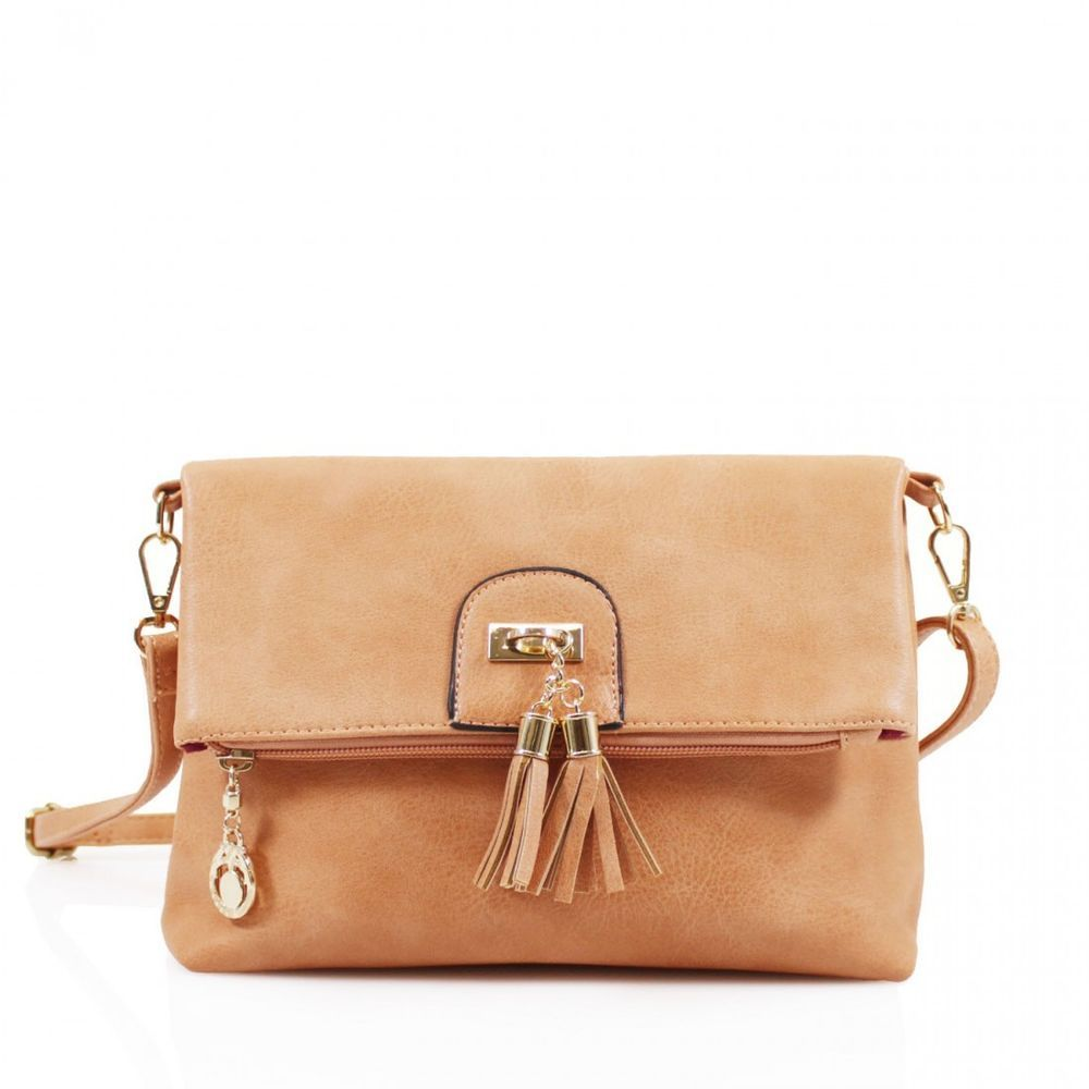 e8d7a3e548 Ladies Girls Fold Over Tassel Versatile Cross Body Bag Women Clutch Bag   Clicktostyle  Crossbodybag