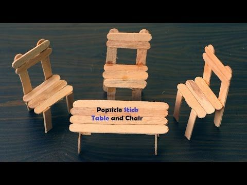 How to Make Table and Chair using the Popsicle Stick #popciclesticks